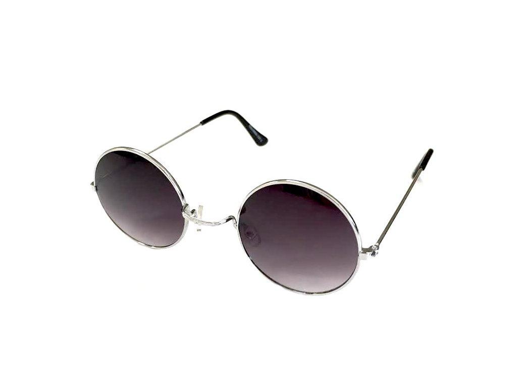 5bbbe590e Slnečné okuliare Lenonky - čierne-strieborné - Army a outdoor vybavenie