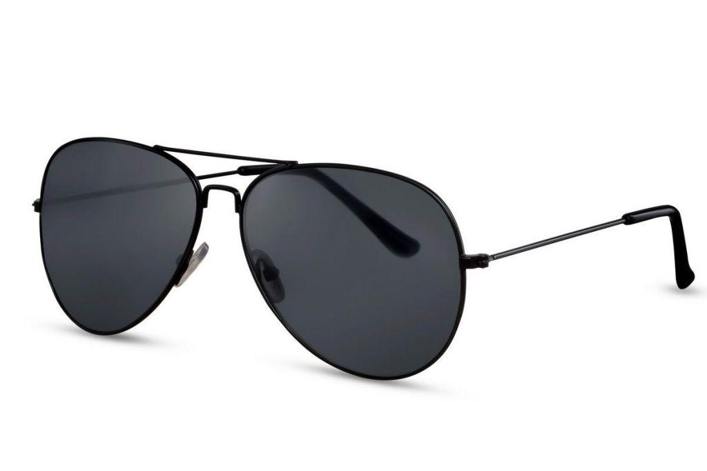 Sluneční brýle Solo Aviator - černé