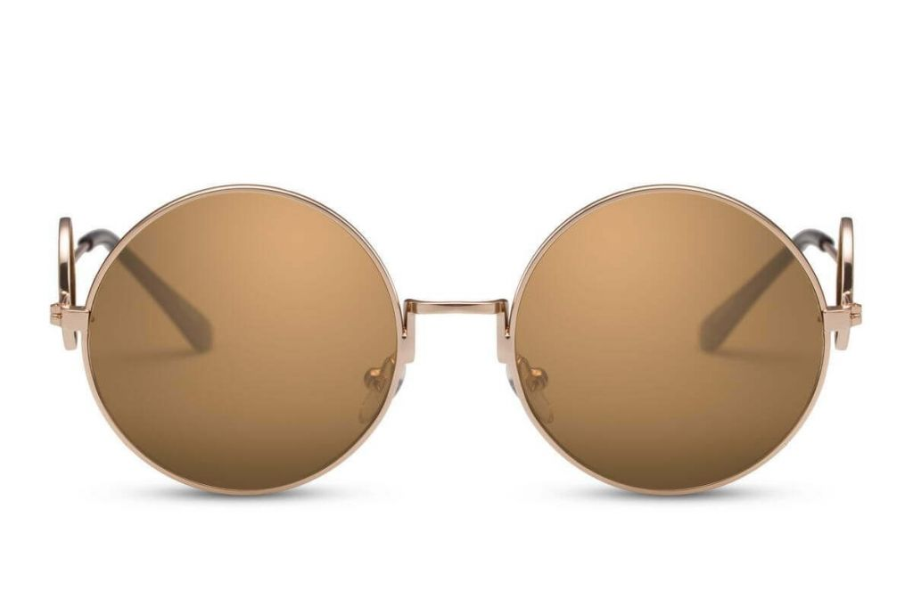 Sluneční brýle Solo Round - hnědé