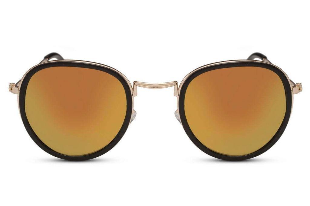 Sluneční brýle Solo Round Flash zrcadlové