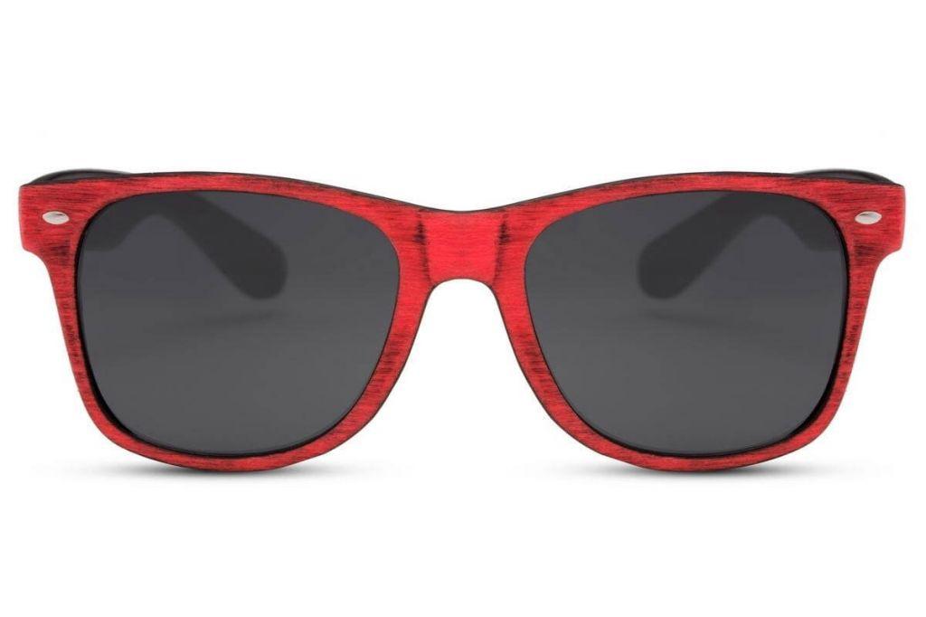 Sluneční brýle Solo Wayfarer Retro - červené