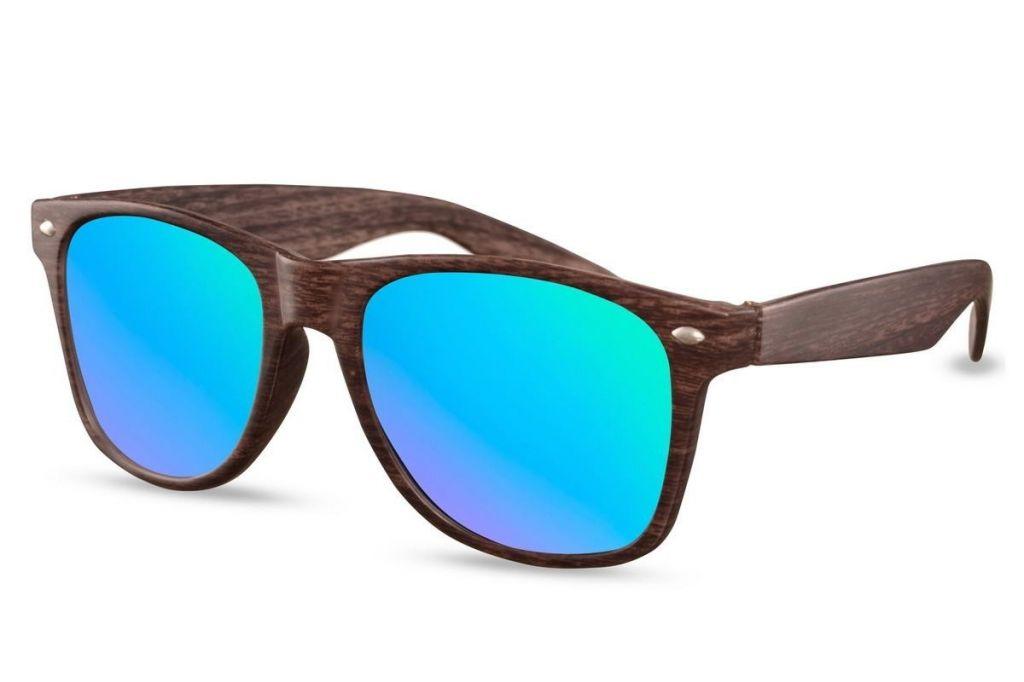Sluneční brýle Solo Wayfarer Structure - hnědé-modré