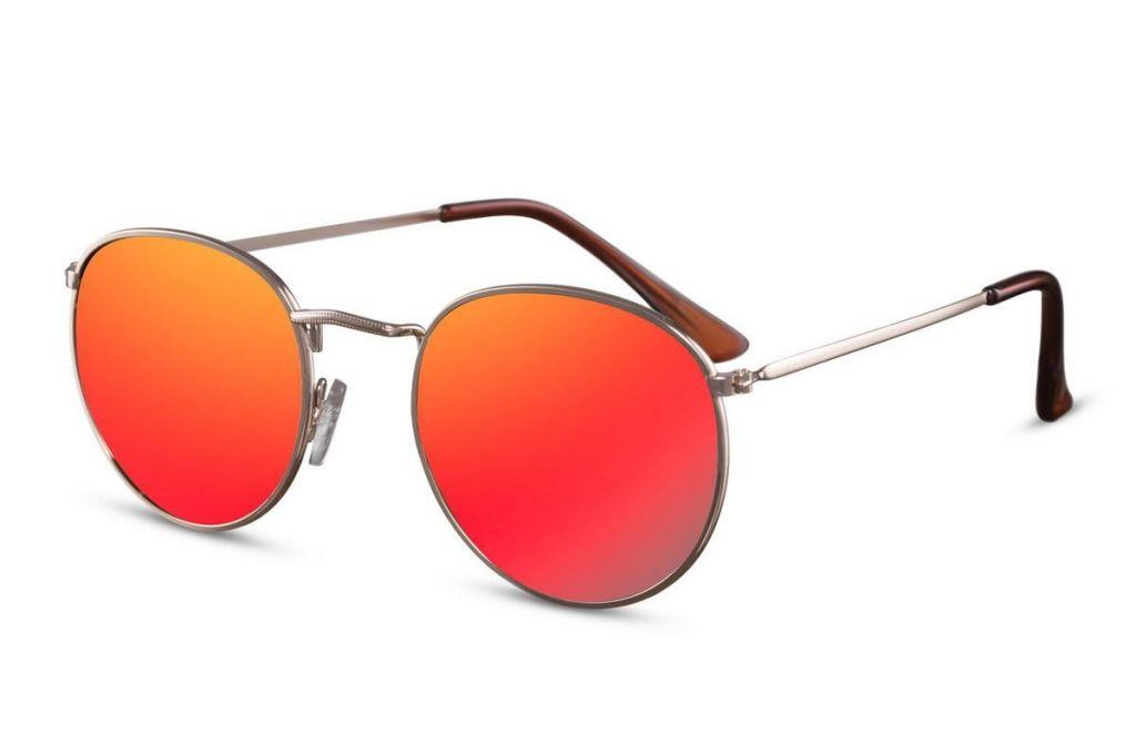 Sluneční brýle Solo Lenonky - zlaté-červené