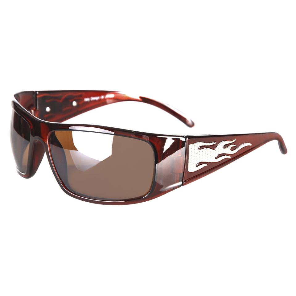Sluneční brýle 101 Inc Biker 1 - hnědé