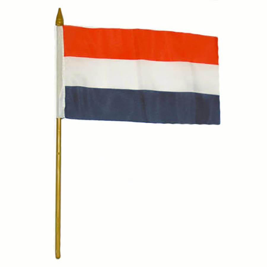 Praporek na tyčce Fostex vlajka Nizozemsko 10 x 15 cm