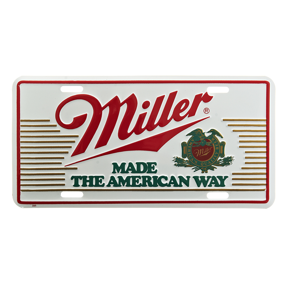 Cedule plechová Licence Miller Beer