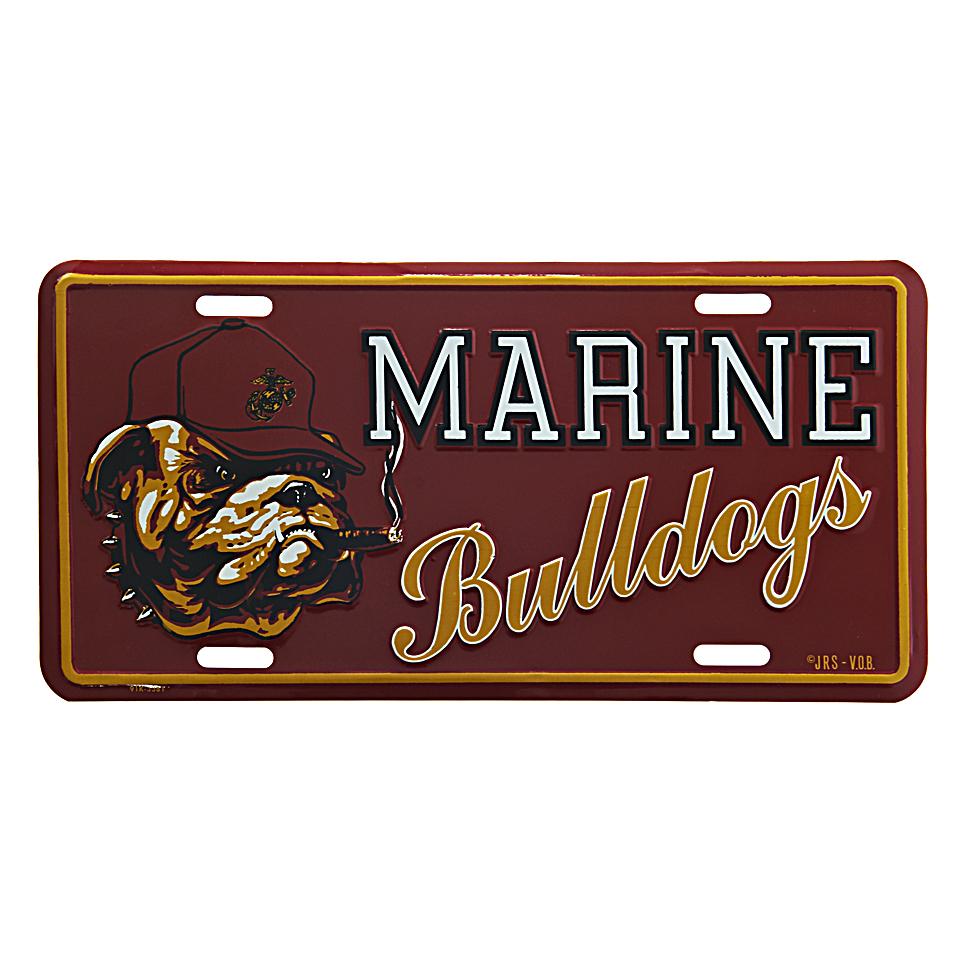 Cedule plechová Licence Marine Bulldogs