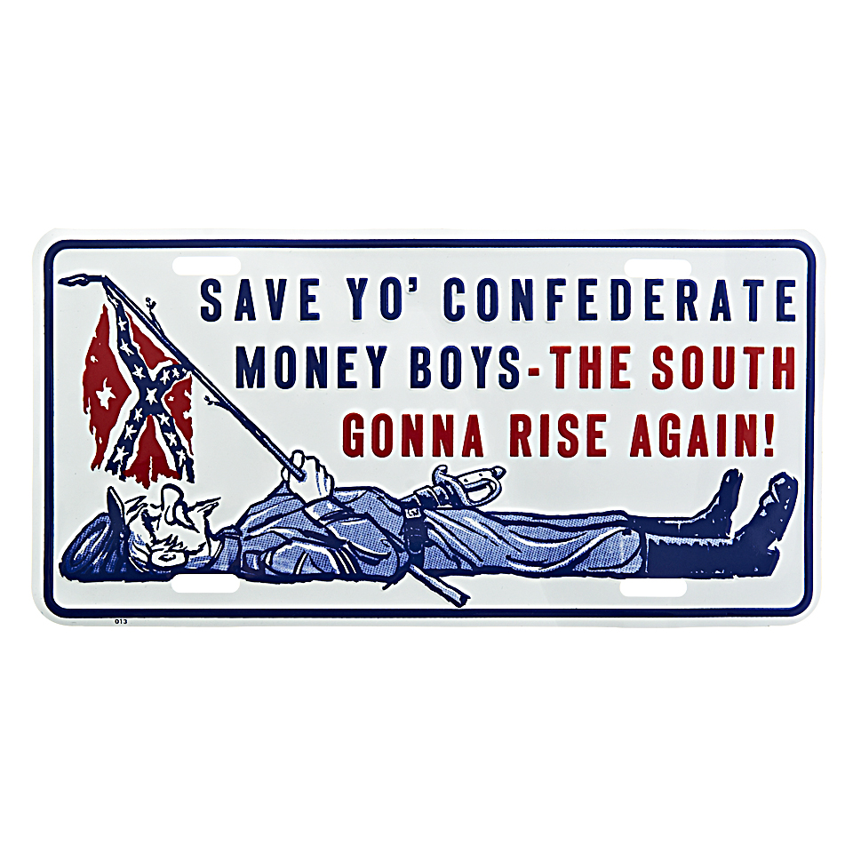 Cedule plechová Licence Save To Confederate