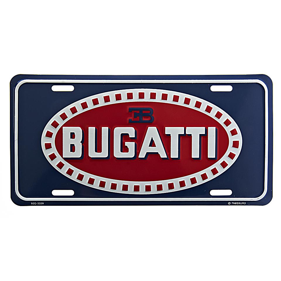 Cedule plechová Licence Bugatti