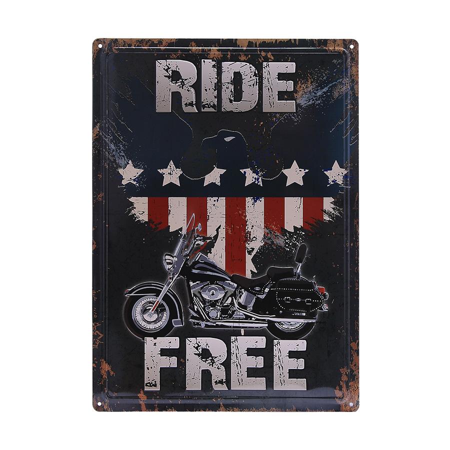 Cedule plechová Ride Free