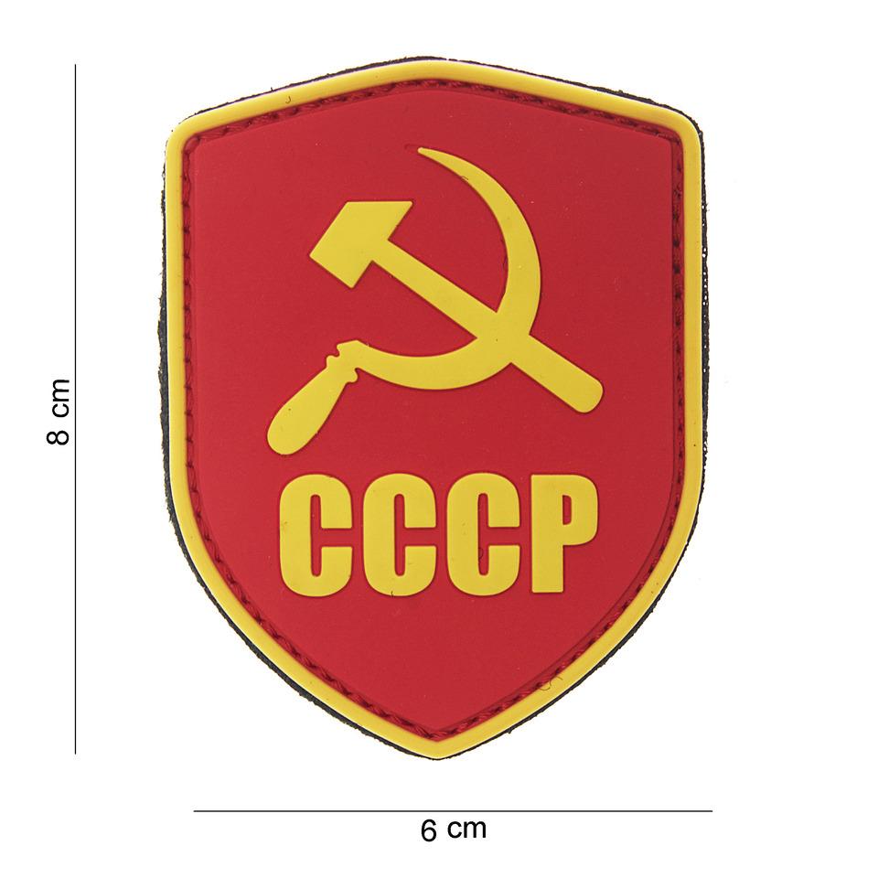 Gumová nášivka 101 Inc vlajka štít Sovětský svaz CCCP