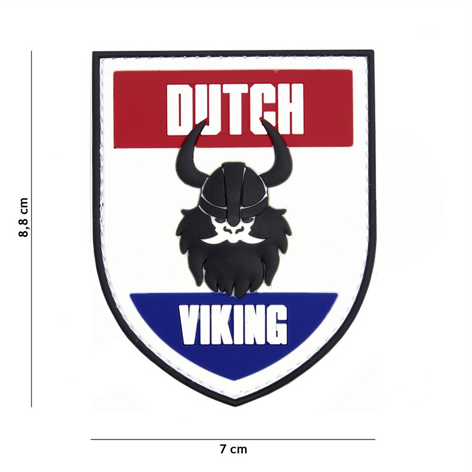 Gumová nášivka 101 Inc Viking vlajka Nizozemsko