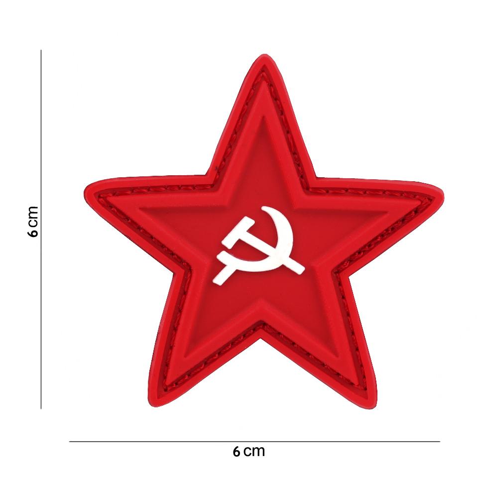 Gumová nášivka 101 Inc vlajka Sovětský svaz Srp a kladivo