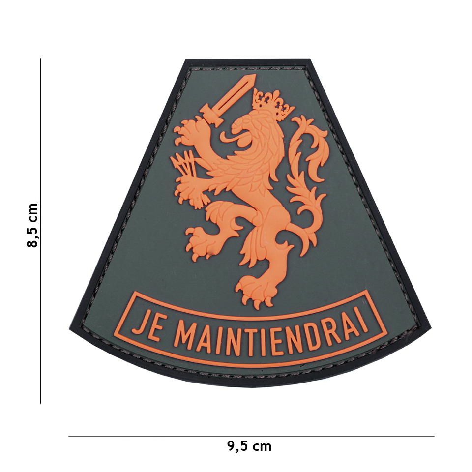 Gumová nášivka 101 Inc znak Je maintiendrai - oranžová