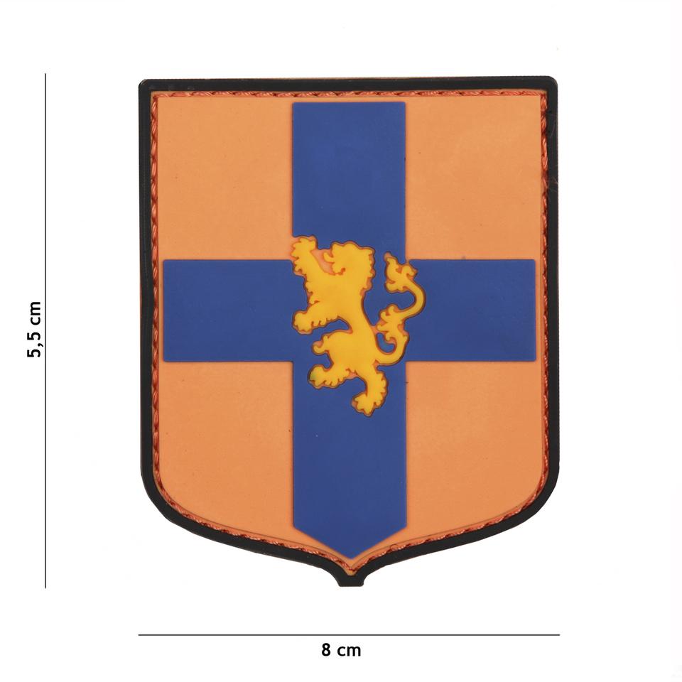 Gumová nášivka 101 Inc znak Dutch Shield - oranžová