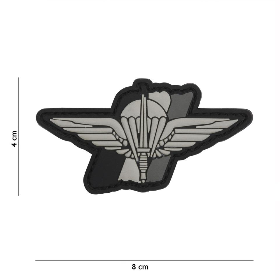 Gumová nášivka 101 Inc Para Wing - šedá
