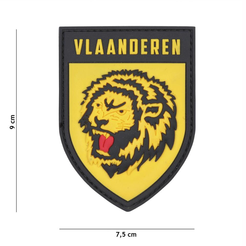 Gumová nášivka 101 Inc znak Vlaanderen - žlutá