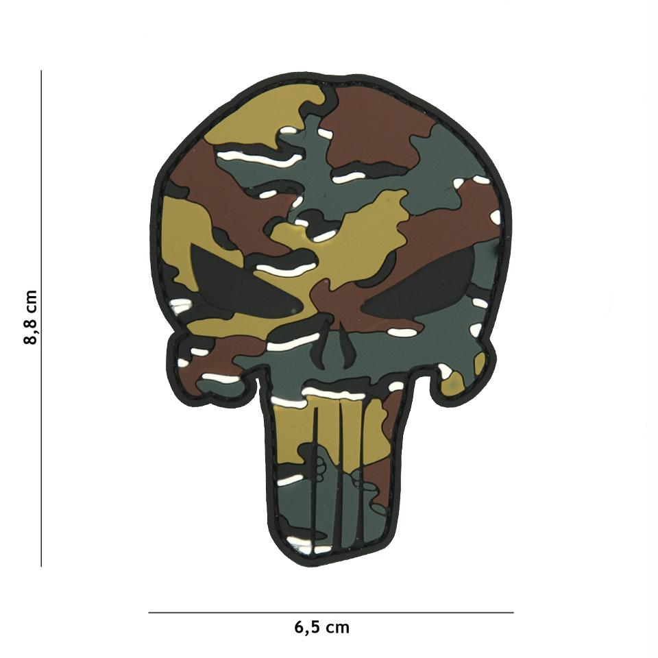 Gumová nášivka 101 Inc Punisher Head - belgický vzor
