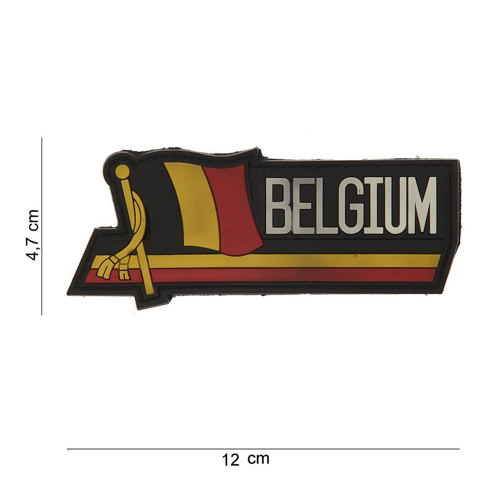 Gumová nášivka 101 Inc Nation vlajka Belgie