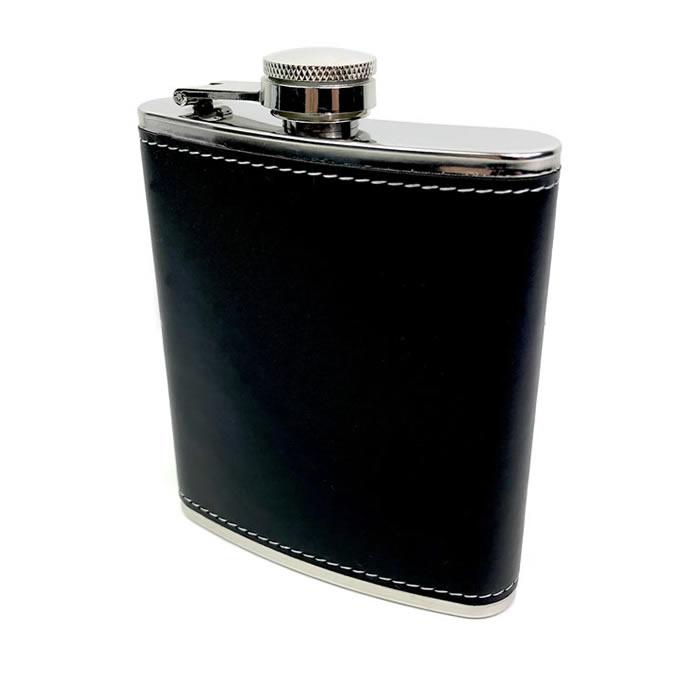 Placatka v černé kožence 210 ml