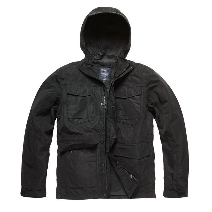 Bunda Vintage Industries Levin - černá