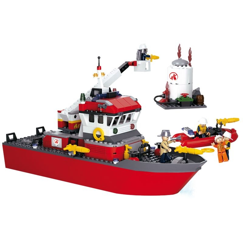 Stavebnice Sluban Fire Záchtranná loď M38-B0218