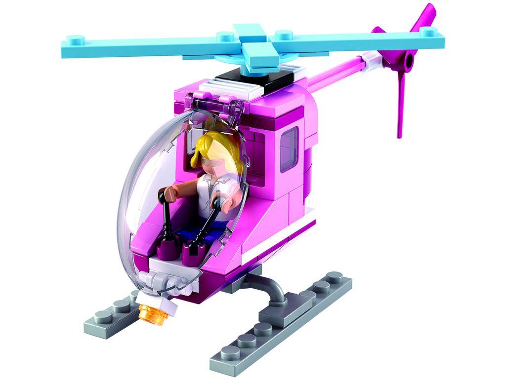 Stavebnice Sluban Girls Dream Plážový vrtulník M38-B0600D