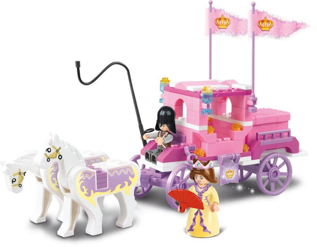 Stavebnice Sluban Girls Dream Královský kočár M38-B0250