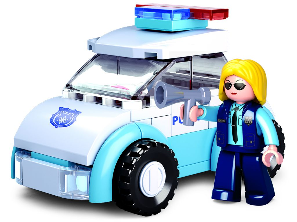 Stavebnice Sluban Girls Dream Policistka s vozem M38-B0600B