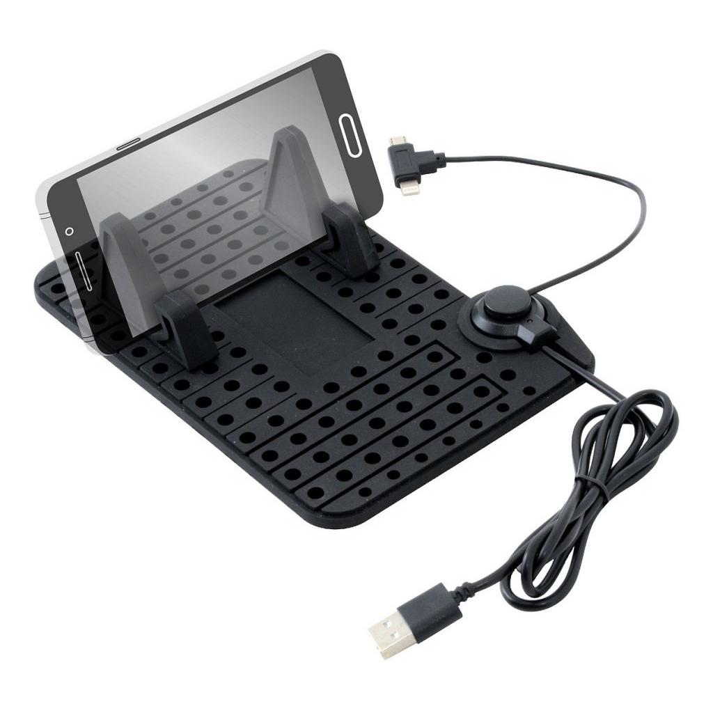 Držák telefonu s podložkou a kabelem micro USB Compass