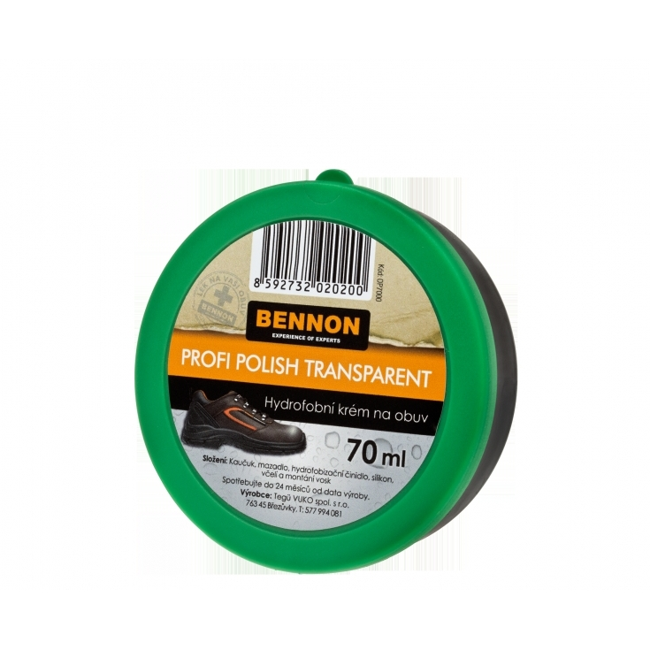 Krém na obuv Bennon Profi Polish 70 g - průhledný