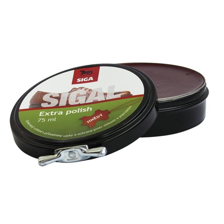 Impregnace vosk Siga Extra Polish 75ml - černá