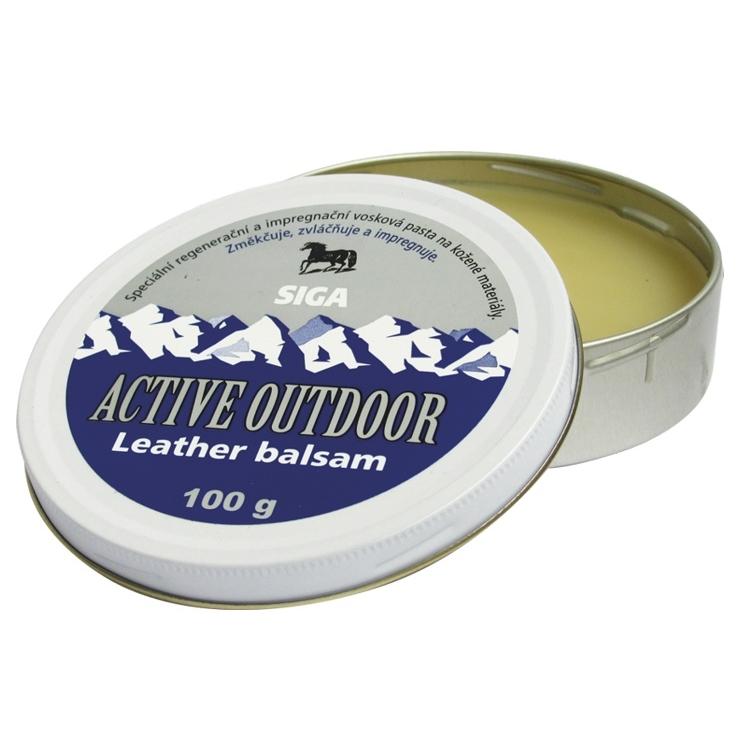 Impregnace vosk Siga Active Outdoor Leather balsam 100g
