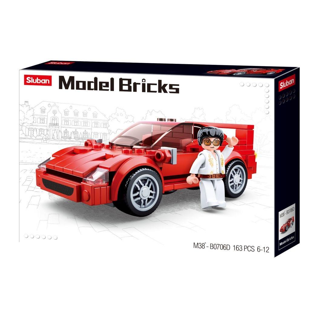 Stavebnice Sluban Model Bricks Italský sporťák M38-B0706D