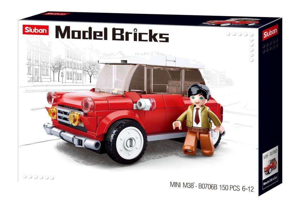 Stavebnice Sluban Model Bricks Mini vůz M38-B0706B