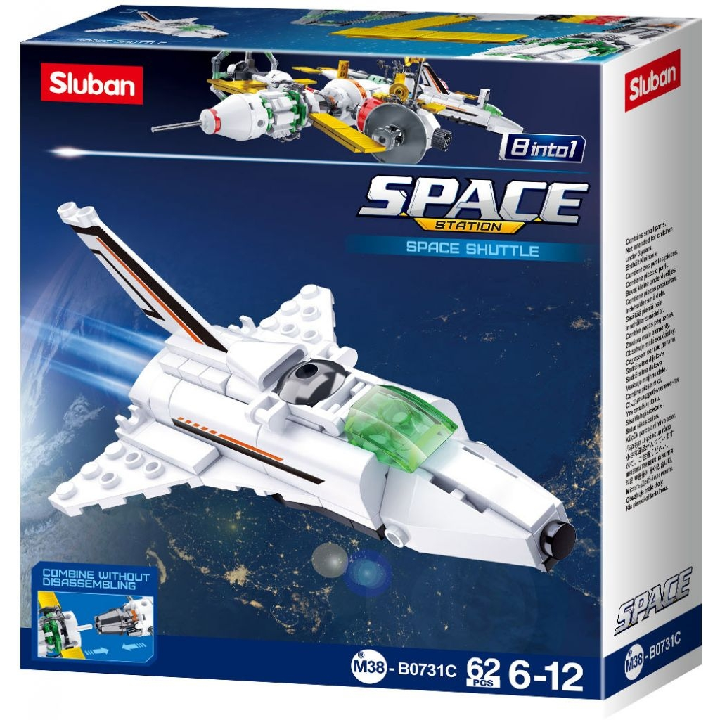 Stavebnice Sluban Space Satelit Raketoplán M38-B0731C