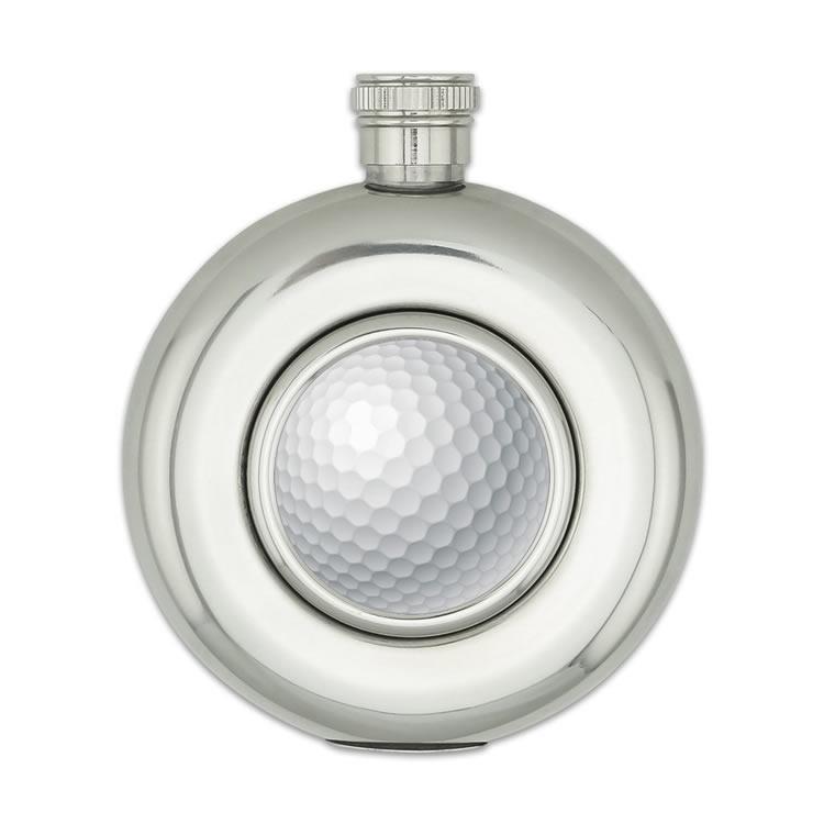 Kulatá placatka 150 ml Pro golfistu - stříbrná