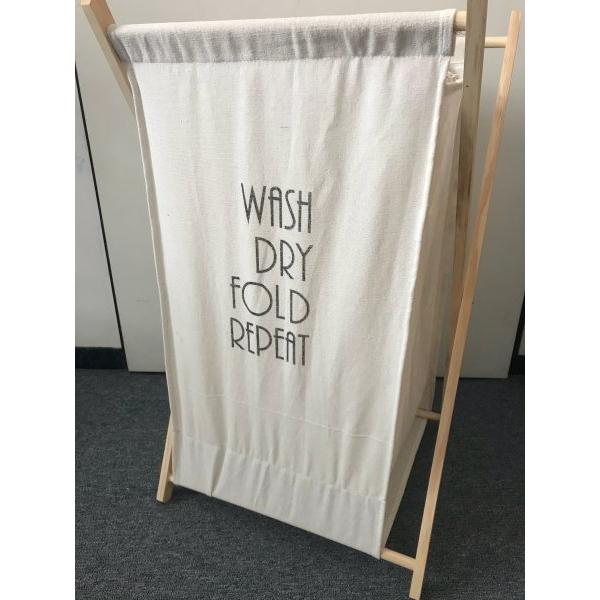 Stylový koš na prádlo Wash, Dry, Fold, Repeat
