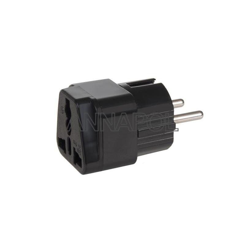Cestovní adaptér (redukce) UK/US-EU - černý