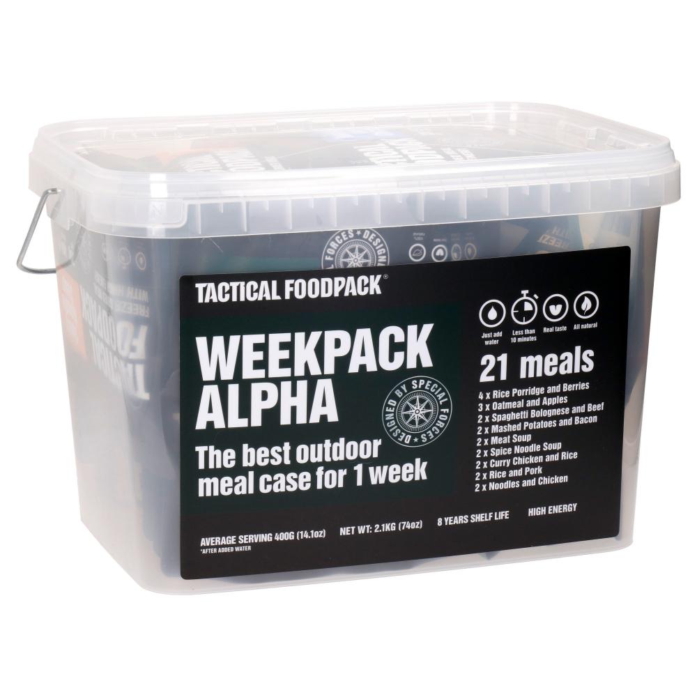 Set 21x Survival MRE jídla Tactical Foodpack Weekpack