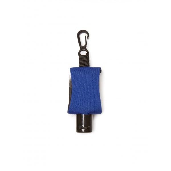 Příruční dezinfekční gel s karabinkou 15 ml - modrý