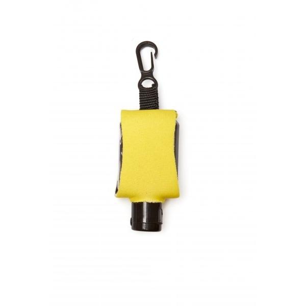 Příruční dezinfekční gel s karabinkou 15 ml - žlutý