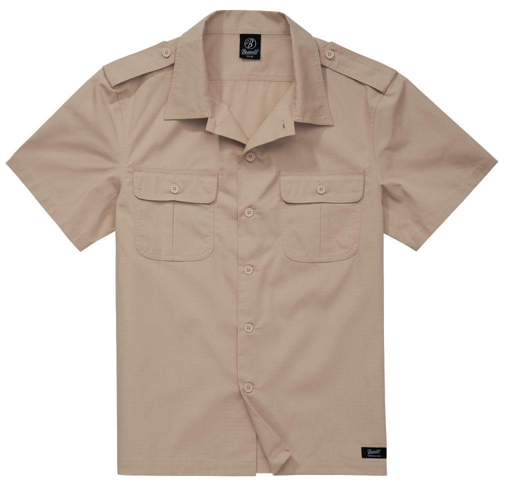 Košile Brandit US Shirt Ripstop 1/2 - béžová