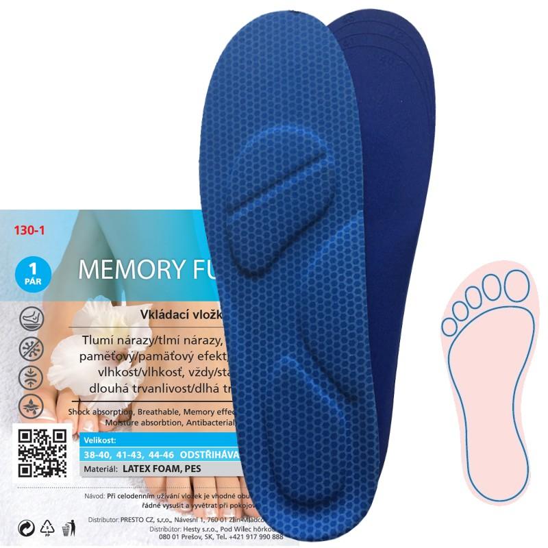 Stélky/vložky do bot Dr. Grepl Memory Fusbet - modré