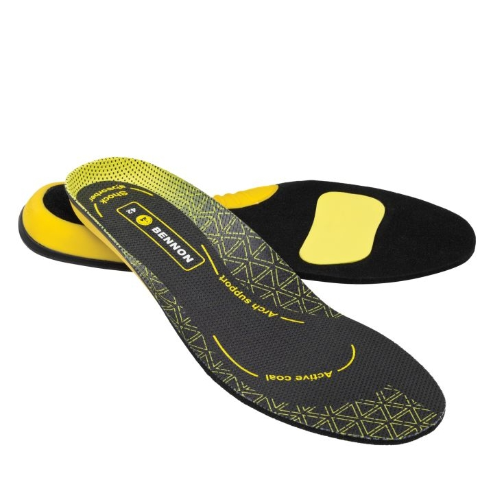 Stélky/vložky do bot Bennon Activa ESD - černé-žluté