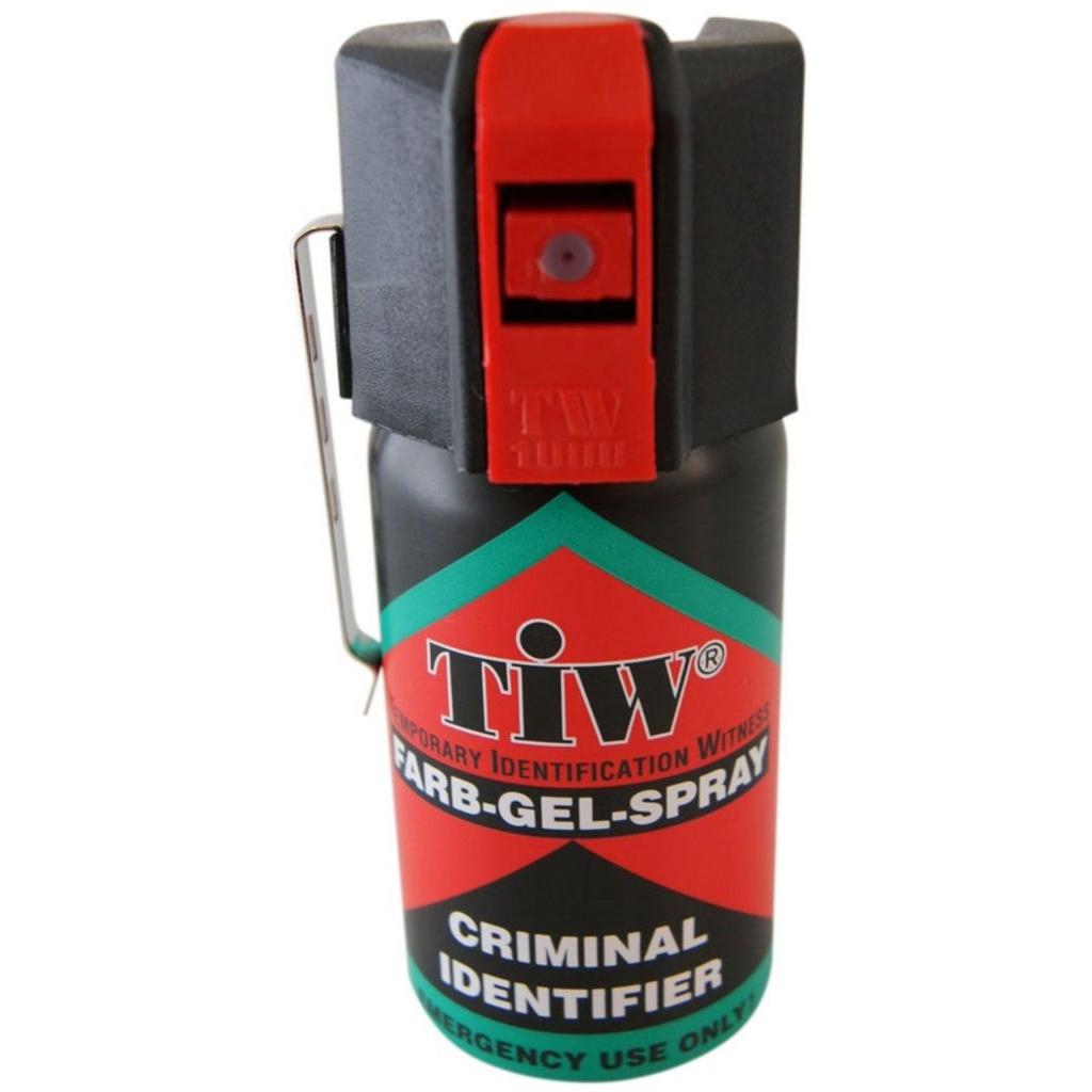 Sprej TIW Criminal Identifier barvící gel s klipem 40 ml (18+)