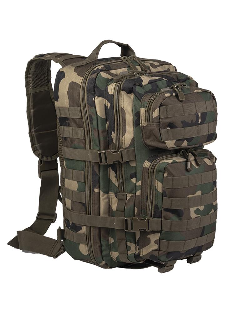 Batoh Mil-Tec US Assault L přes jedno rameno - woodland