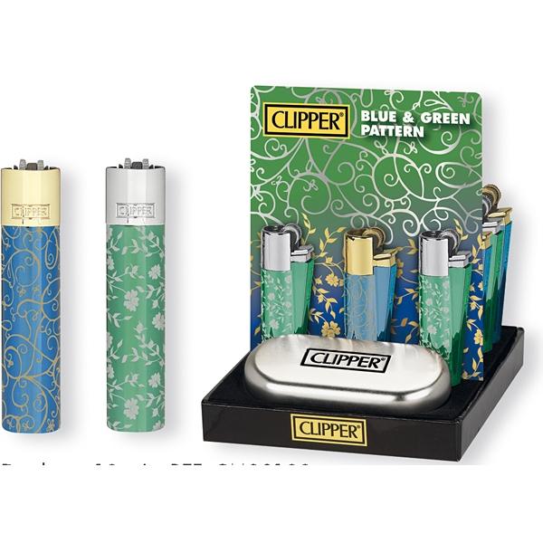 Zapalovač Clipper CMP11R Pattern - zelený