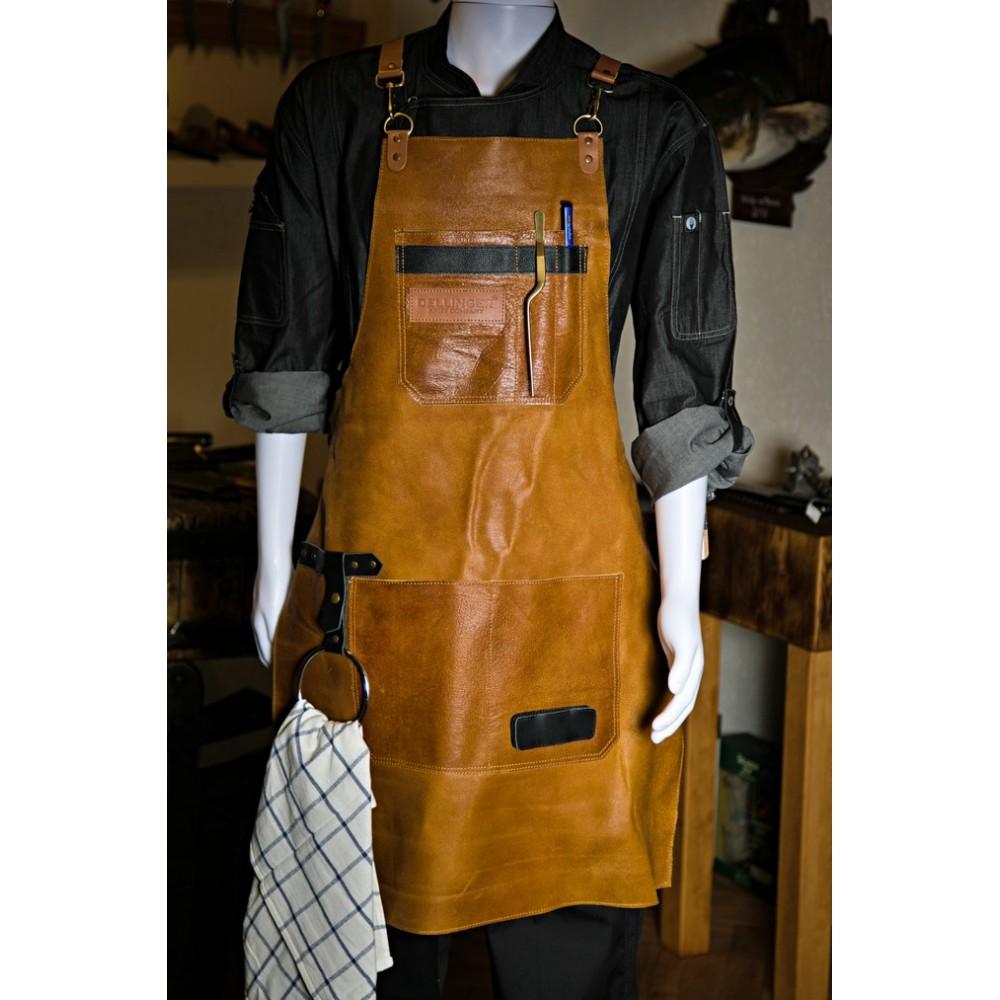 Kožená zástěra Dellinger Leather BBQ Vintage Soft - světle hnědá
