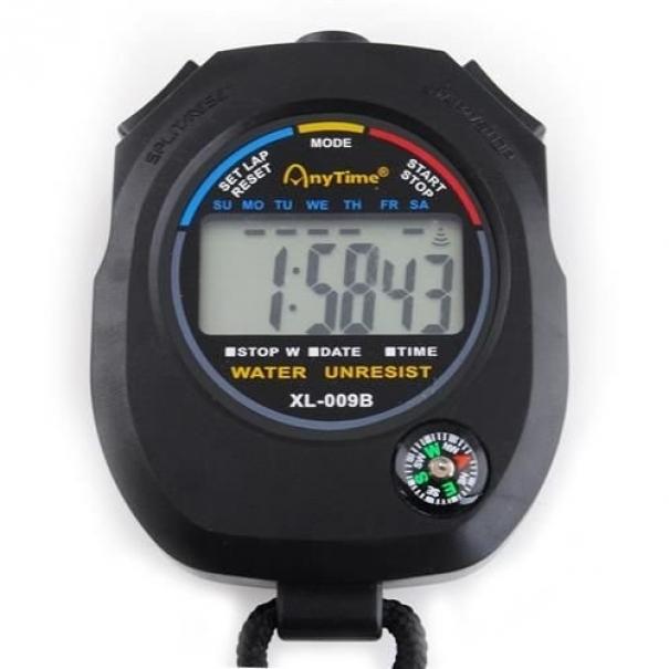 Digitální stopky XL-009B s kompasem AnyTime - černé